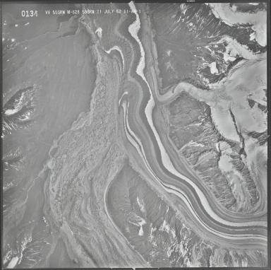 Yentna and Lacuna Glaciers, aerial photograph M 628 0134, Alaska