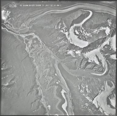 Yentna Glacier and Dall Glacier, aerial photograph M 628 0136, Alaska