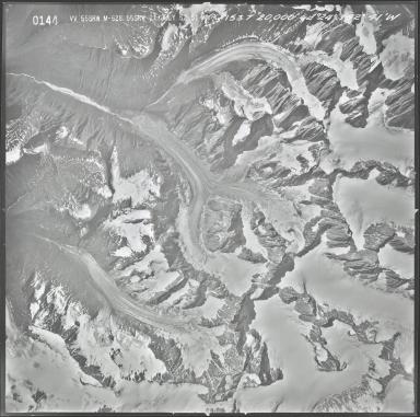 Caldwell Glacier, aerial photograph M 628 0144, Alaska