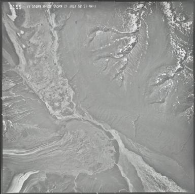 Dall Glacier and Yentna Glacier, aerial photograph M 628 0155, Alaska