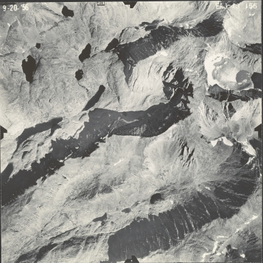 Cloud Peak Glacier, aerial photograph EAJ-13 156, Wyoming