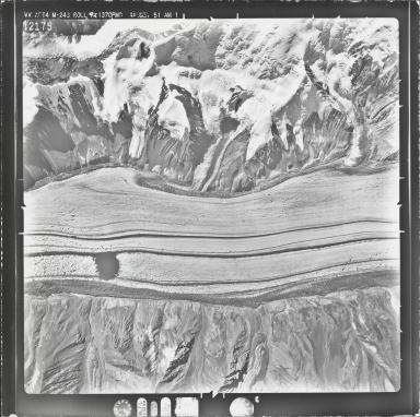 Klutlan Glacier, aerial photograph M 243 12175, Alaska