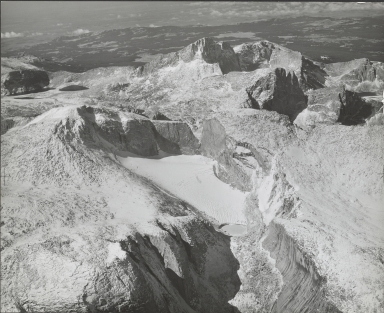 Wind River Glacier, aerial photograph roll no. 22 exposure no. 46, Wyoming