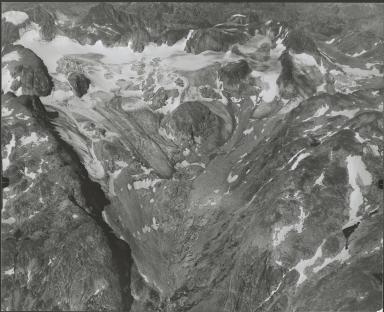 Glacier near Gannett Peak, aerial photograph roll no. F1 exposure no. 56, Wyoming