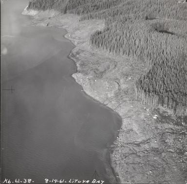 Lituya Glacier, aerial photograph K6-61-38, Alaska