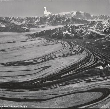 Unknown glacier, aerial photograph K633-39, Alaska