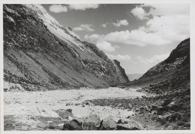 Quebrada Cojup boulder flow, Peru