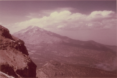 View toward Iztaccihuatl, left panorama, Mexico
