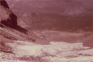 View toward Iztaccihuatl, right panorama, Mexico