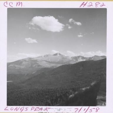Unknown glacier, Longs Peak, Colorado