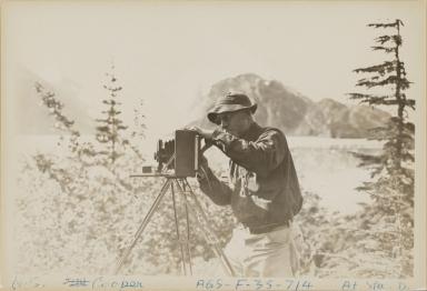 Photograph of W.S. Cooper near Northland Glacier, Alaska