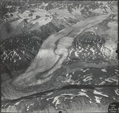 Tikke Glacier, aerial photograph F652 219, British Columbia