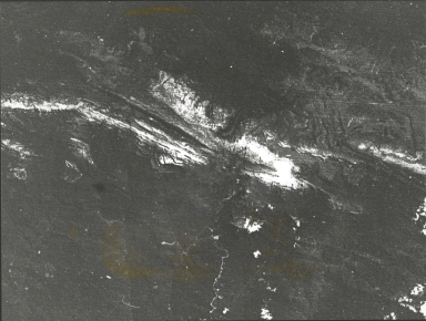 Carstensz Range, LANDSAT satellite photograph, Indonesia