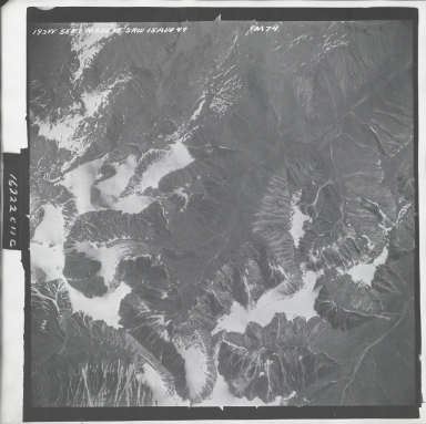 Talkeetna Mountains, aerial photograph M 836 193, Alaska