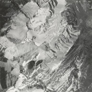 Grant Glacier, aerial photograph GP 13-101, Montana