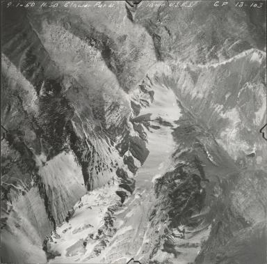 Grant Glacier, aerial photograph GP 13-103, Montana