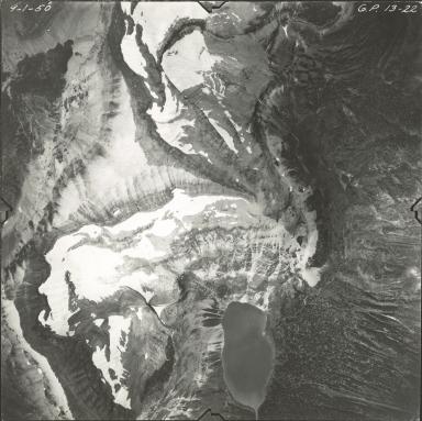 Dixon Glacier, aerial photograph GP 13-22, Montana
