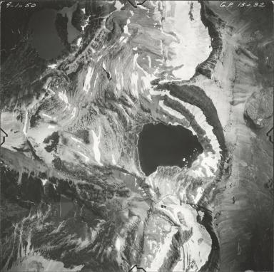 Shepard Glacier, aerial photograph GP 13-32, Montana