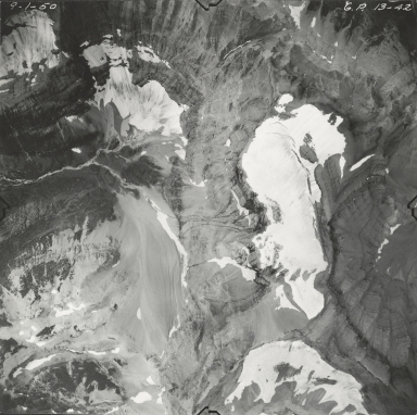 Old Sun Glacier, aerial photograph GP 13-42, Montana