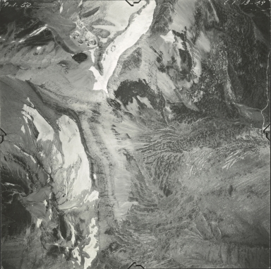 Swiftcurrent Glacier, aerial photograph GP 13-49, Montana