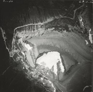 Piegan Glacier, aerial photograph GP 13-56, Montana