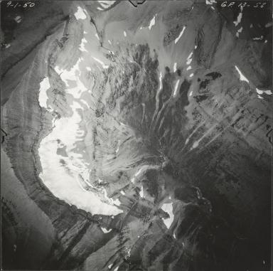 Sexton Glacier, aerial photograph GP 13-58, Montana
