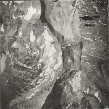 Piegan Glacier, aerial photograph GP 13-69, Montana