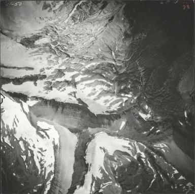 Blackfoot Glacier, aerial photograph GP 13-78, Montana