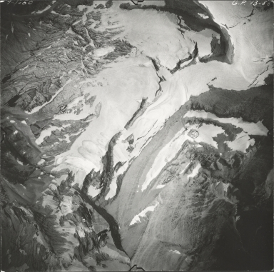 Pumpelly Glacier, aerial photograph GP 13-80, Montana