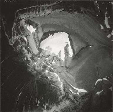 Piegan Glacier, aerial photograph GP 13-85, Montana