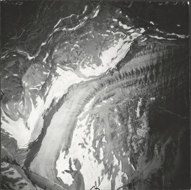 Piegan Glacier, aerial photograph GP 13-91, Montana
