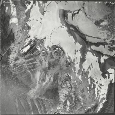 Pumpelly Glacier, aerial photograph GP 13-92, Montana