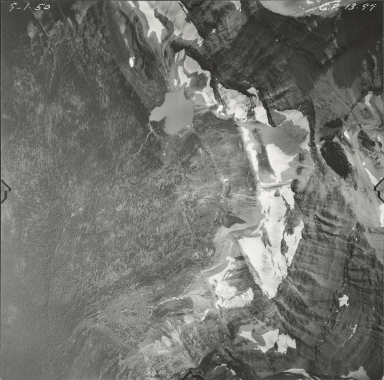 Harrison Glacier, aerial photograph GP 13-97, Montana