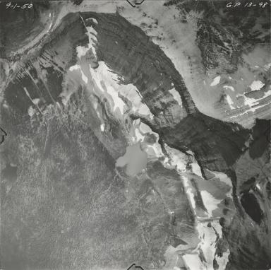 Harrison Glacier, aerial photograph GP 13-98, Montana