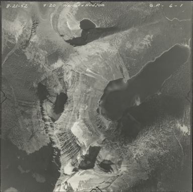 U.S.-Canada Border, aerial photograph GP 6-1, Montana, British Columbia, Alberta