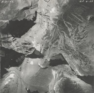 Piegan Glacier, aerial photograph GP 6-23, Montana