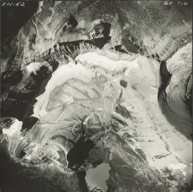 Grinnell Glacier, aerial photograph GP 6-31, Montana