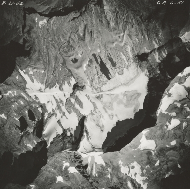 Sperry Glacier, aerial photograph GP 6-51, Montana