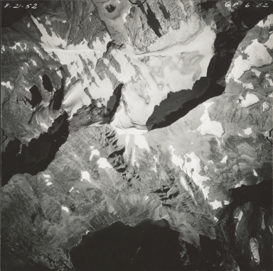 Sperry Glacier, aerial photograph GP 6-52, Montana