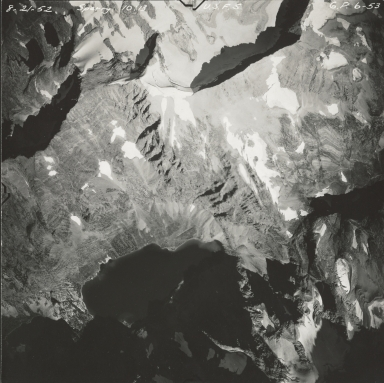 Sperry Glacier, aerial photograph GP 6-53, Montana
