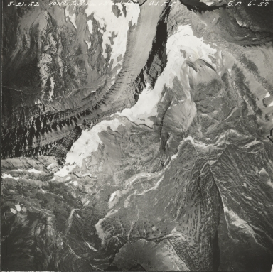 Red Eagle Glacier, aerial photograph GP 6-59, Montana