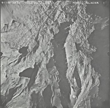 Powell Glacier, aerial photograph PG 1, California