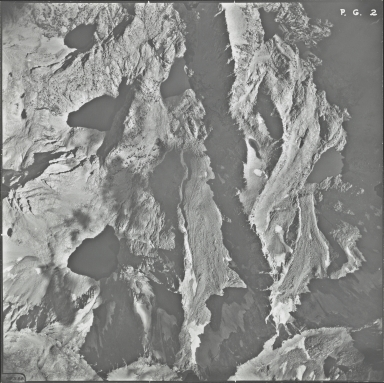 Powell Glacier, aerial photograph PG 2, California