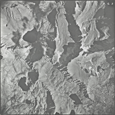 Powell Glacier, aerial photograph PG 3, California