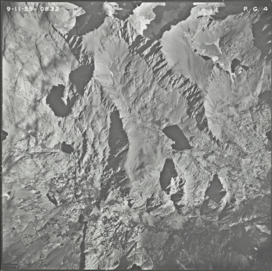 Powell Glacier, aerial photograph PG 4, California