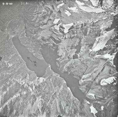 Grant Glacier, aerial photograph 14-1, Montana