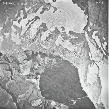 Jackson Glacier, aerial photograph 14A-2, Montana