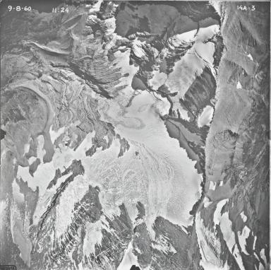Jackson Glacier, aerial photograph 14A-3, Montana