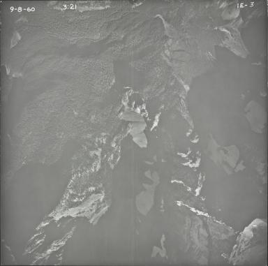Kintla Glacier, aerial photograph 1E-3, Montana