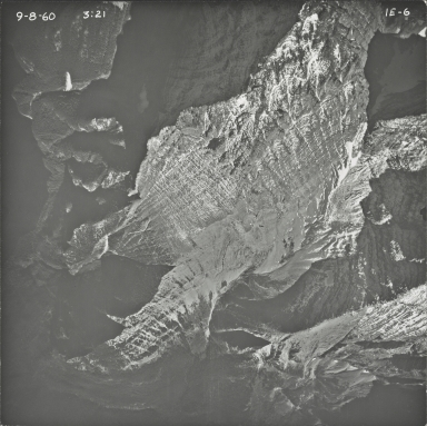 Upper Kintla Lake, aerial photograph 1E-6, Montana